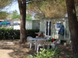 Rental - Mobile Home BASIC 24 m² - 4 Beds + 2 extra persons in the livingroom - 1 bathroom - garden - Camping Villaggio Italgest