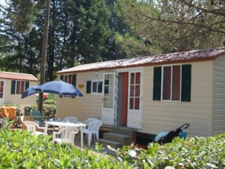 Mobile Home SUPERIOR 24 m² - 5 Beds + 2 extra persons in the livingroom - 1 bathroom - garden - optional airconditioning