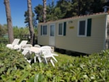 Rental - Mobile Home DELUXE (airconditioning included) 21 m² - 4 Beds - 1 bathroom - garden - Camping Villaggio Italgest