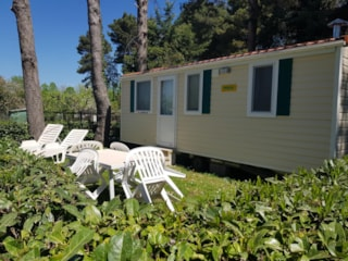 Mobile Home DELUXE (airconditioning included) 21 m² - 4 Beds - 1 bathroom - garden
