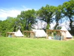 Huuraccommodaties - Bungalow tent Amazone 20m² - Camping Le Val Saint Jean