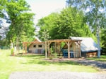 Rental - Canvas bungalow Canadienne 15m² - Camping Le Val Saint Jean