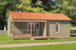 Rental - Cottage 2 bedrooms Wheelchair friendly - Camping Le Val Saint Jean