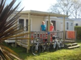 Rental - Mobile home Grand Large Premium 30m² (2 bedrooms) +sheltered terrace - Flower Camping les Genêts