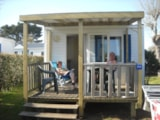 Rental - Mobile home Confort Pêcheur 17m² (1 bedroom) + sheltered terrace - Flower Camping les Genêts