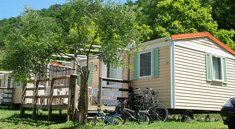Location - Cottage  Residence 2 Ch   Terrasse Couverte - Camping Mas de Champel