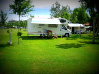 Pitch for caravan, camper or big tent