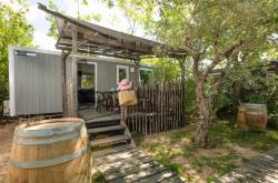 Location - Mobile Home Chardonnay - Terrasse Couverte - Climatisation - Camping Les Coudoulets