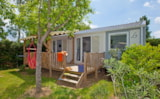 Rental - Mobile Home Premium -  covered terrace - Air conditioning - Camping Les Coudoulets