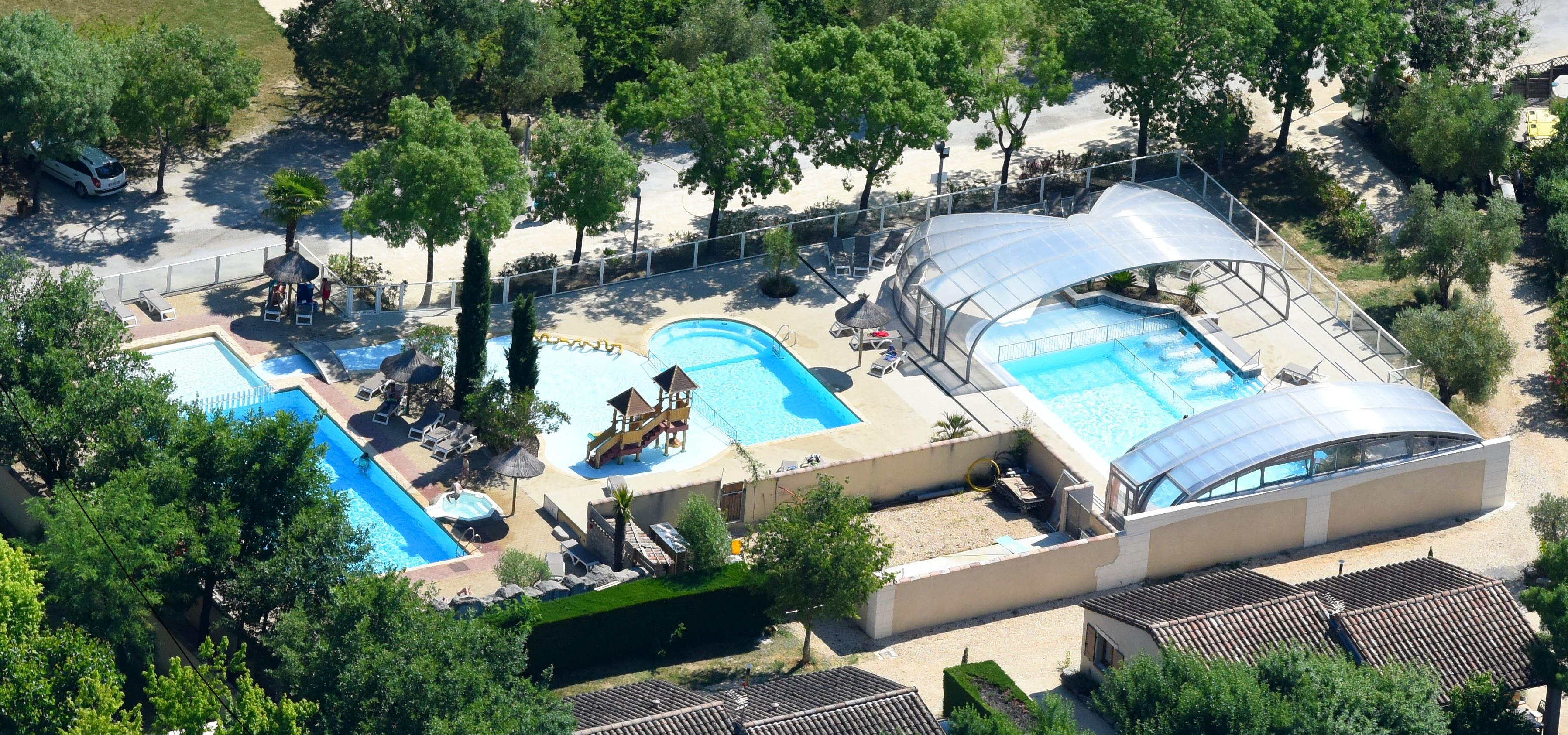 Mare, piscina Camping Les Coudoulets - Pradons
