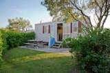 Rental - Chalet Mobile Type 1 - 27.5 M² (7.32 X 4 M) Short Stay With 1 Car - Camping Merko Lacarra