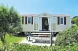 Rental - Chalet  mobile - 32 m² (8.64 x 4 m) Short stay with 1 car - Camping Merko Lacarra