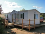 Rental - Mobil-home HELIOS for disabbled 2 bedrooms + Tv + opened terrace + wifi for 1 device - Camping L'Arada Parc