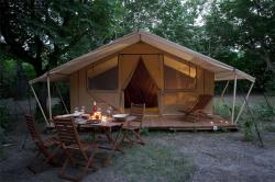 Canadian tent Cabanon 25m², without sanitary