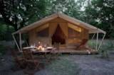 Rental - Canadian tent 25m², without sanitary - Camping Sites et Paysages DE VAUBARLET