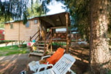 Rental - Safari Lodge, a charming wooden cabane, glamping, comfortable and exotic. - Camping Sites et Paysages DE VAUBARLET