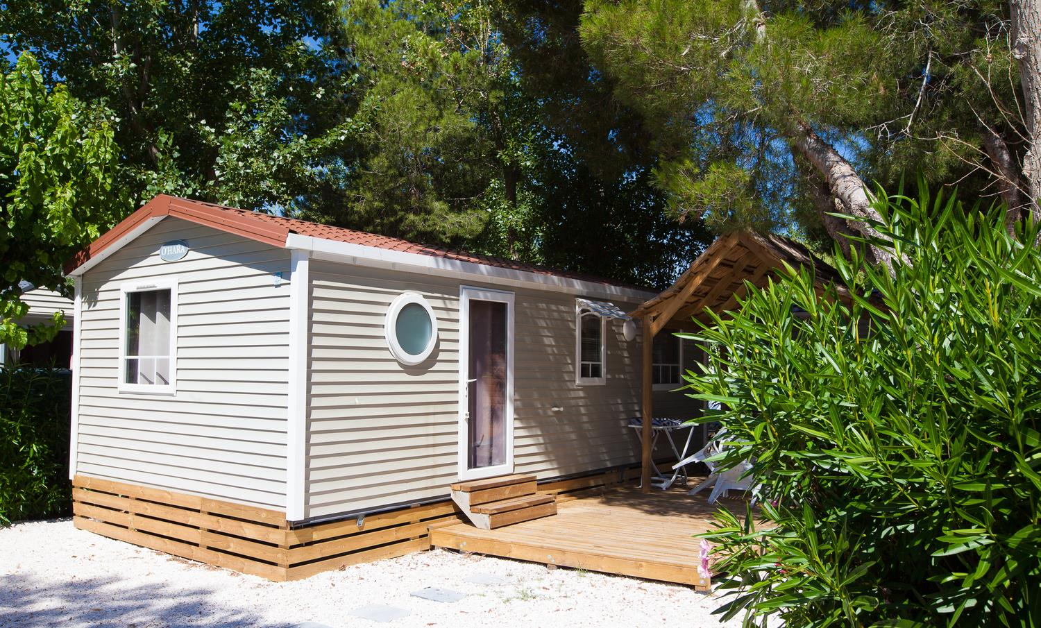Location - Mobilhome Climatise - Camping Domaine des Champs Blancs