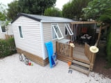 Rental - Mobile Home Luxe (Air-Conditioning + Tv + Dishwasher) - Camping Les Champs Blancs