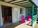 Rental - Chalet LEISURE 3 bedrooms 6 pers 29 m² (mobile home) / 32m (cottage) - covered terrace 12m² (mobile home) / 24m (cottage) + 8 years - DOMAINE DE L'OREE