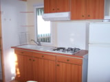 Rental - LEISURE PLUS mobile home 2 bedrooms 5 people 27 m² - covered wooden terrace 12m² + 8 years - DOMAINE DE L'OREE
