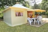 Rental - Funflower Eco 20M² (2 Bedrooms) - Without Private Facilities - Flower Camping LE TEMPS DE VIVRE