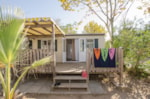 Rental - Mobile home SOLEA  24m² / 2 bedrooms, semi-covered terrace + air-conditioning - Flower Les Pêcheurs