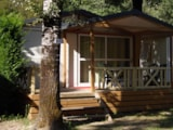 Rental - Chalet Confort Morea 32m² - 2 bedrooms + Half-covered terrace - Interior - Camping Au Vallon Rouge