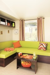 Rental - Mobile home Privilege 834T 31m² - 2 bedrooms + terrace - Rivers - Camping Au Vallon Rouge