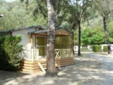 Rental - Chalet Privilege Morea 32m² - 2 bedrooms + Half-covered terrace - Rivers - Camping Au Vallon Rouge