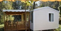Location - Mobil Home Lavande Confort+ 26M² 2 Chambres +Tv + Climatisation +Terrasse Couverte - Flower Camping LES TRUFFIERES