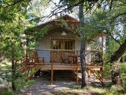 Accommodation - Cabane Lodge 2 Bedrooms - Camping Les Rives de l'Aygues