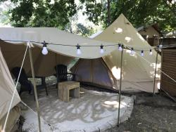 Accommodation - Unusual Twin Tents 5 Persons - Without Toilet Blocks - Kitchenette - Hôtel de Plein Air Suze Luxe Nature