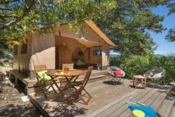 Location - Tente Nature 20M² - 2 Chambres - CAMPING LES BASTETS