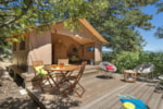 Rental - Equipped Tent Lodge 20m² - 2 bedrooms - CAMPING LES BASTETS