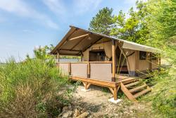 Location - Nature Luxe 35M² / 2 Chambres - Terrasse Couverte 10M² - CAMPING LES BASTETS