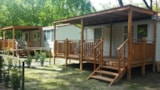 Rental - Mobilehome Lirica With Air Conditioning - Beach Service Included For Min 7 Nights (2 Beach Beds+Sunshade) - Camping Piomboni SRL