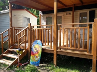 Mobilehome Sole With Air Conditioning - Beach Service Included For Min 7 Nights (2 Beach Beds+Sunshade)