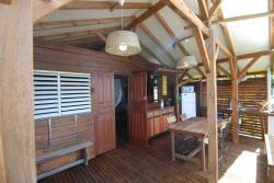 This rental is located on the French West Indies island of Guadeloupe where our campsite propose you Kay Maren , a cabin with a wonderful sea view