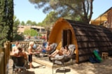 Rental - Forest Cabin Glamping Pod (WC) sea view - Camping CALA LLEVADÓ ****
