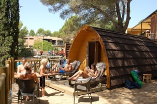 Forest Cabin Glamping Pod (WC) sea view