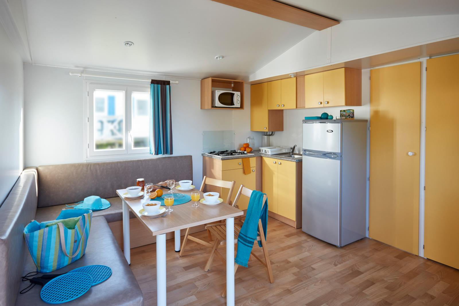 Location - Mobil-Home Atlantique - 27M² - 2 Chambres - Camping de L'Eve****