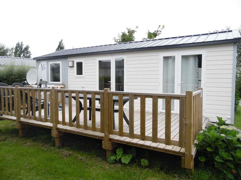 Location - Mobil-Home Louisiane Grand Large 3 Chambres 6 Pers (Côté Plage) - Camping Les Saules