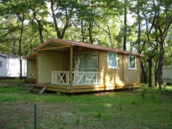 Rental - Cottage DETENTE 25m2 + Covered Terrace + TV - Camping LA GARENNE