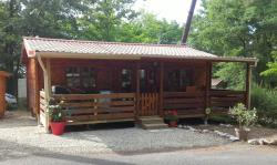 Rental - Chalet les bleuets  5 PERS 40m²  Covered Terrace + TV - Camping LA GARENNE