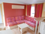 Rental - Residence FLEURIE with Covered Terrace + TV - Camping LA GARENNE