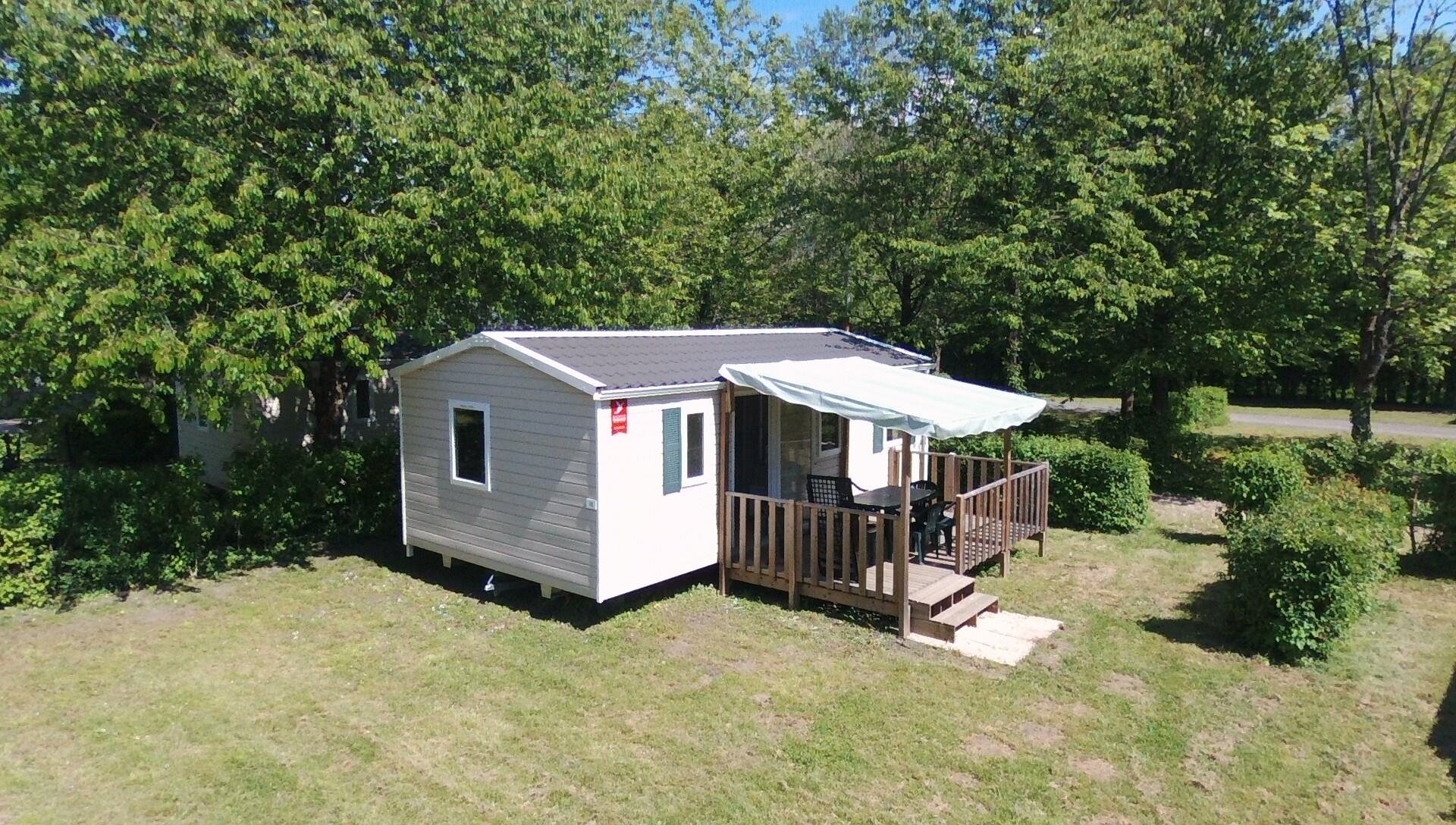 Location - Mobile-Home 3 Chambres & Terrasse - Camping Lac de Carouge