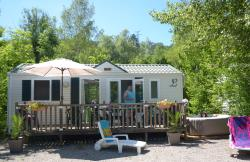 Location - Mobil Home Louisiane Option Jacuzzi - Camping des Gorges de l'Oignin