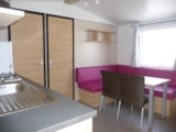 Rental - Mobile-home Confort 2 bedrooms + terrace - Camping LANDES OCEANES