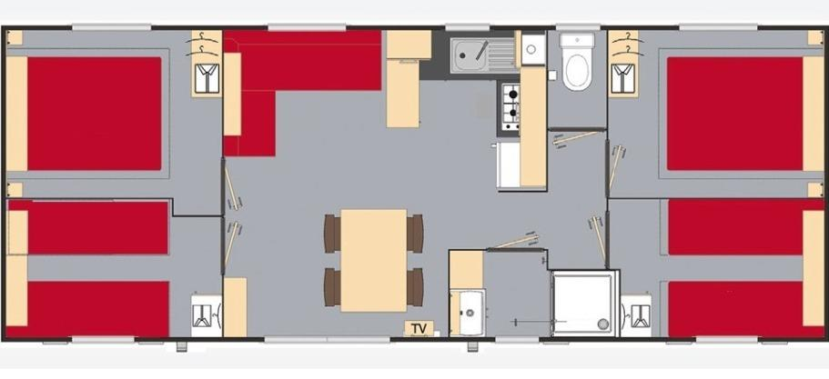 Mobilhome Confort 4 Chambres