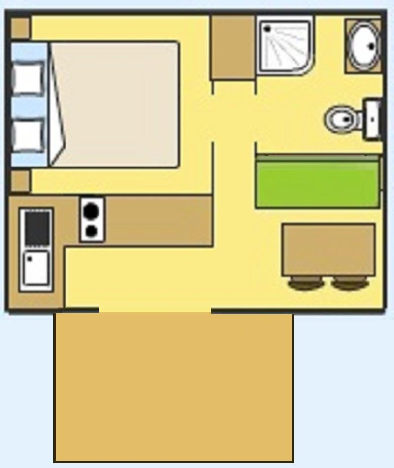 Mobile Home Duo (1 Bedroom)